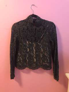 Aritzia Dalida Blouse in Chalet Size Small
