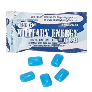 【MiQi】Military Energy Gum Caffeine Sit Up US Army Authentic USGI