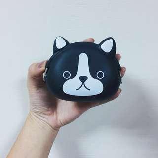 黑色貓咪軟矽膠零錢包