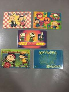 New Singtel Snoopy Phone Card Collection