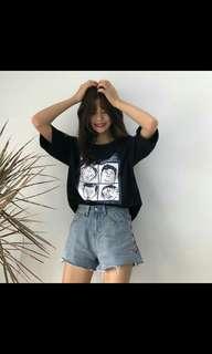 (PO) Korean Style College short sleeve blouse