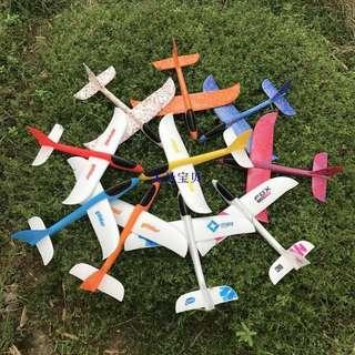 現貨手擲機 手抛航模泡沫飛機兒童投擲滑翔機玩具模型 大飛機 手擲飛機 47*48cm 手拋飛機滑翔機 戶外運動玩具飛機 手拋機