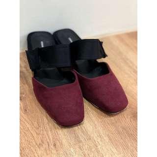 🚚 R.K.M 低跟復古小方頭便鞋 24號 SALE:850
