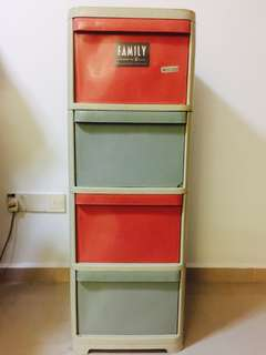 GLOBAL EAGLE 🦅 FAMILY Plastic 4 Drawers Cabinet