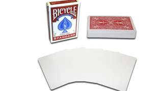 Bicycle playing blank face card