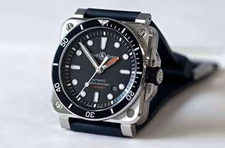 Brand New 100% Authentic Bell and Ross Diver 03-92 42mm Watch B&R 0392 Black