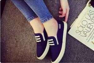 Sepatu Wanita flar kanvas