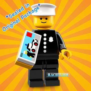 *New* [Rare] Classic Police/ Policeman/ Officer - Lego Series 18 Minifigures