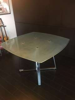 Dining Table (1yr new) frosted glass