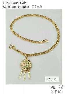 Saudi Gold Bracelet-Dream Catcher
