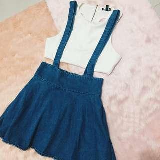 Denim Jumper Skirt