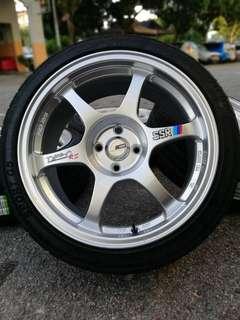 "SSR Type C rim second + tayak baru Size : 17"" 8jj et35 Pcd :> 4 x 100"