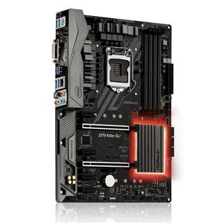 底板 ASRock 華擎 Z370 Killer SLI Z370,DDR4,LGA 1151,Intel GbE Lan,USB3.0 Type A/C ATX M/B