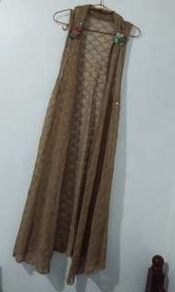 long beach cover up brown