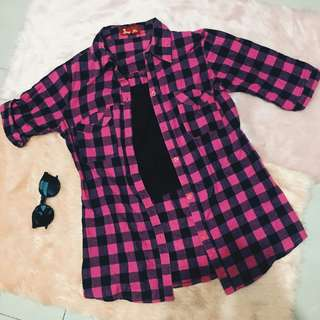 Pink Checkered Flannel (SALE)