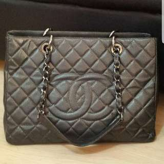 Authentic Chanel Gst black caviar