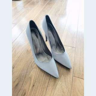Jeffery Campbell Silver Pointy Heels