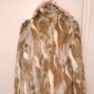 Unworn Faux Fur Coat