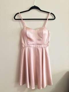 F21 Pink Satin Dress