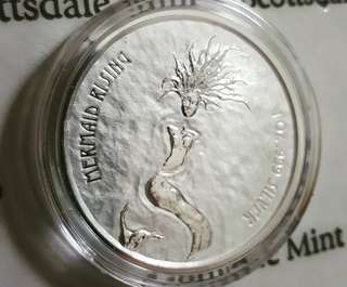 2018 Fiji 1 oz Silver Mermaid Rising Bullion Coin