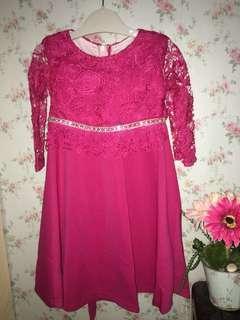 Dress Lace Budak (Baju raya budak)