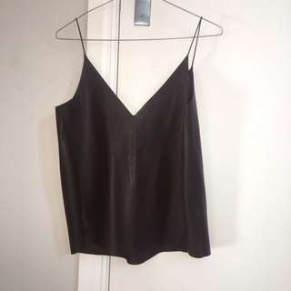 Zara Leather top