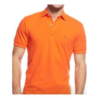 Tommy Hilfiger Orange Polo Shirt
