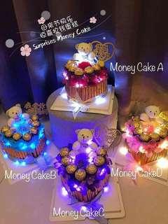 Surprises Money cake