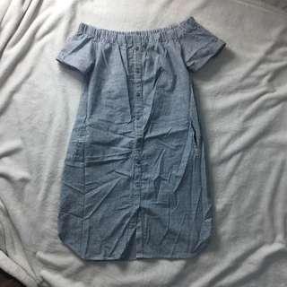 Plains & Prints Dress with Pocket