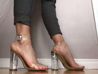 Steve Madden Clearer Heels Size 8 Never Worn