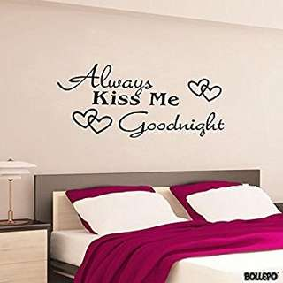 Always Kiss Me Goodnight Wall Decor