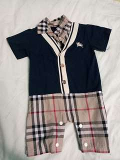 Overruns burberry romper overall for baby