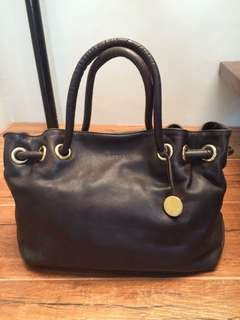 Authentic Furla leather tote