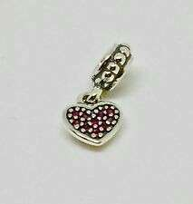Pandora Red Pave Heart Pendant Charm