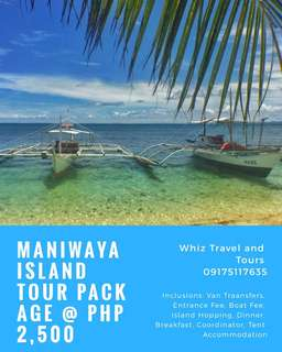 Maniwaya Island Tour Package