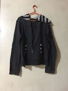 West borough jacket with stripes hood