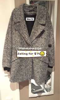 Wool Blend Coat - Glasson
