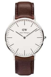 DANIEL WELLINGTON Classic Bristol 40mm Silver Watch