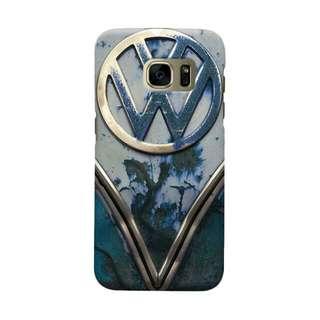 VW Blue Rusty Samsung Galaxy S7 Edge Custom Hard Case