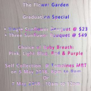 Flower Bouquet | Graduation Special