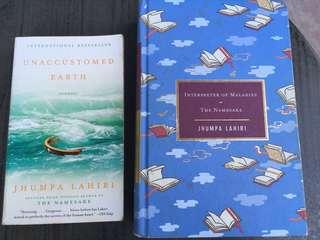 Jhumpa Lahiri books (1 hardback; 1 paperback) buy as a bundle