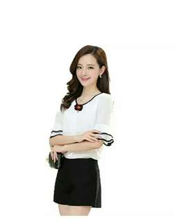 Blouse model Korea variasi bros