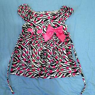 Preloved Zebra print dress for toddlers