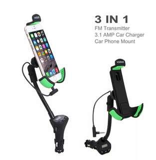 Holder / Mount Car Charger FM Transmitter