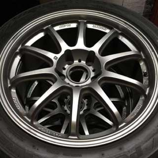 "Prodrive GC-010G 17"" rims with RE71R tyres"