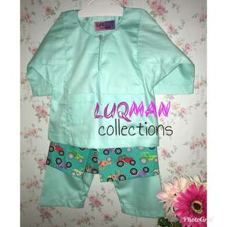 Baju Melayu Baby Mint Green