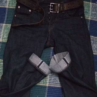 Havillah celana denim selvedge accent 15,5 oz
