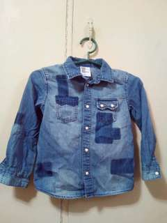 H&M Boys Denim Longsleeves 4-6y/o
