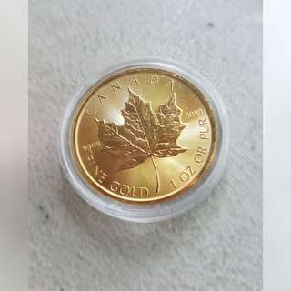 1oz 9999 pure gold 1oz maple