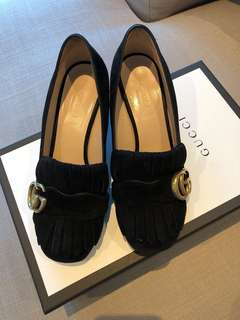 (🌷ON HOLD) GUCCI SUEDE mid heel pumps